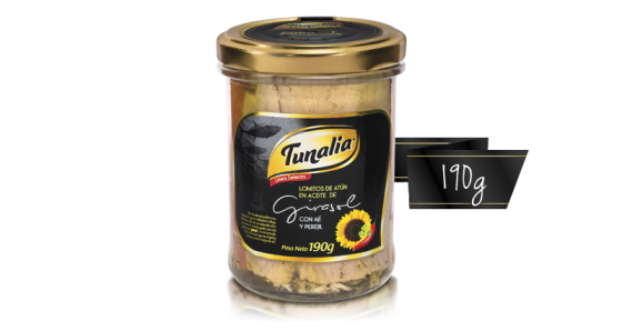 tunalia-lomitos de atun en aceite de girasol aji perejil_190g