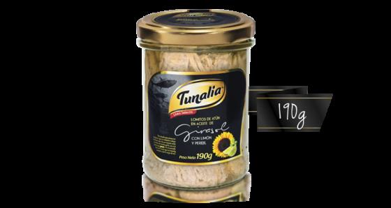 tunalia-lomitos de atun en aceite de girasol limon y perejil_190g